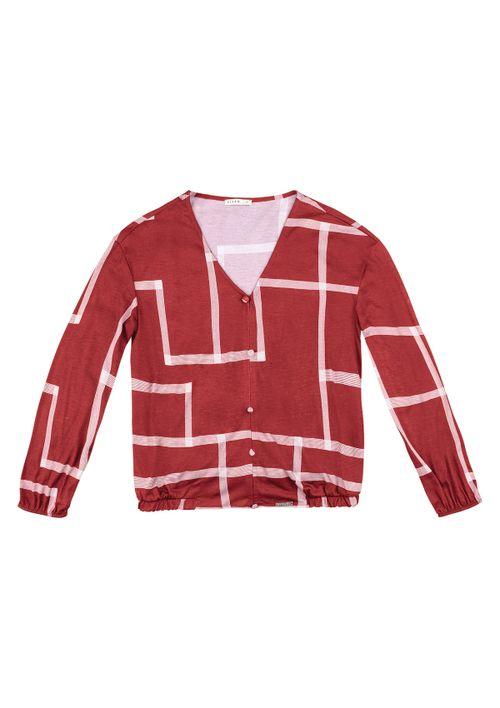Blusa Em Malha - Vermelho