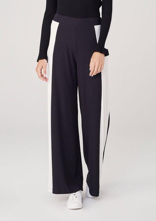 Calça Pantalona Cintura Alta - Preto