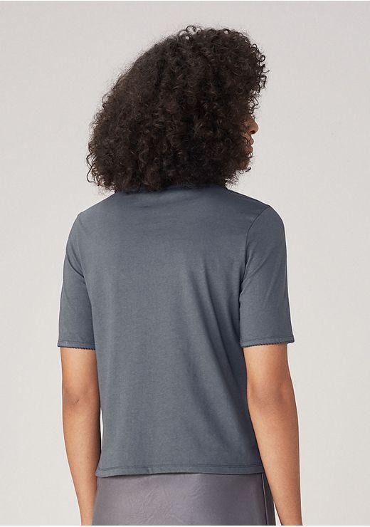 Blusa Básica Em Malha Eco Nature - Cinza