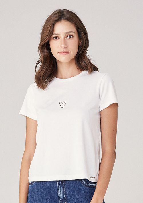 T-shirt Em Malha Tal Mãe Tal Filha - Off White