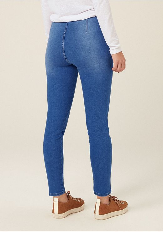 Calça Jeans Jegging Cintura Alta - Azul