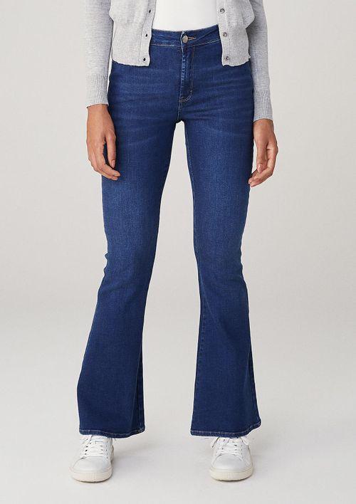 Calça Jeans Flare Cintura Alta - Azul