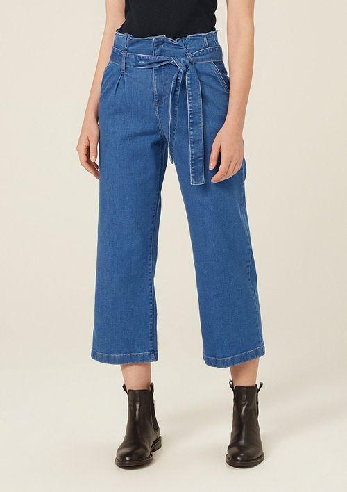 Calça Jeans Clochard Pantacourt - Azul