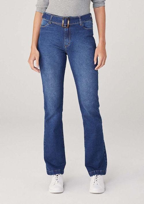 Calça Em Jeans Bootcut Petit - Azul