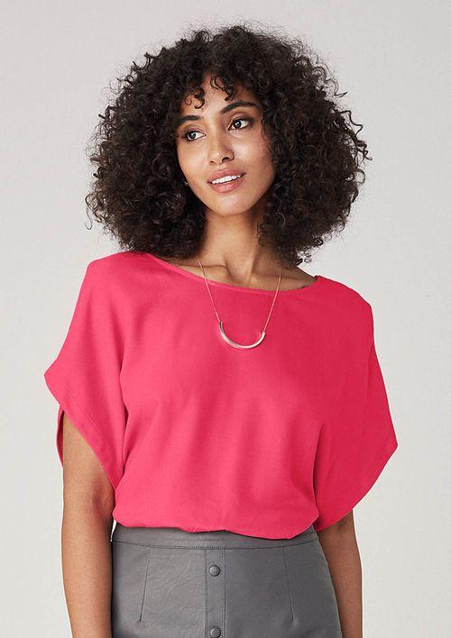Blusa Em Tecido Decote Nas Costas - Rosa