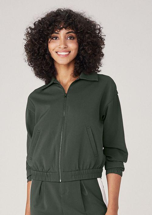 Jaqueta Bomber Em Tecido - Verde