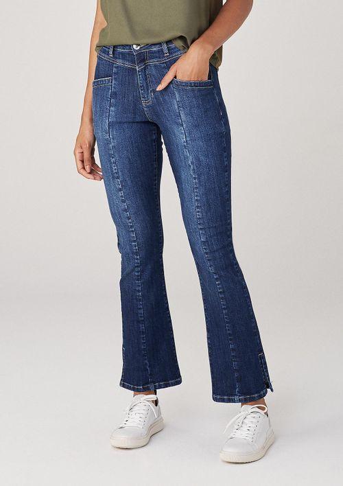 Calça Em Jeans Bootcut Petit Eco - Azul