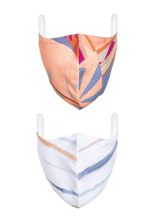 Kit Com 2 Máscaras Para Proteção - Rosa