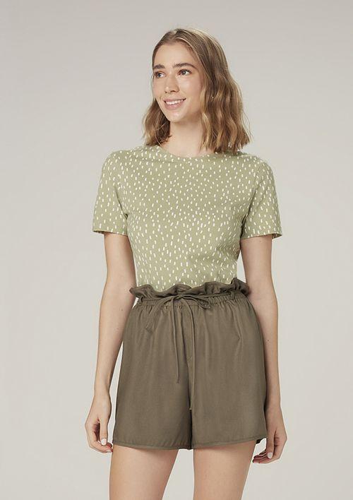 Camiseta Manga Curta Estampada - Verde