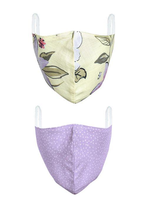 Kit Com 2 Máscaras Para Proteção - Roxo