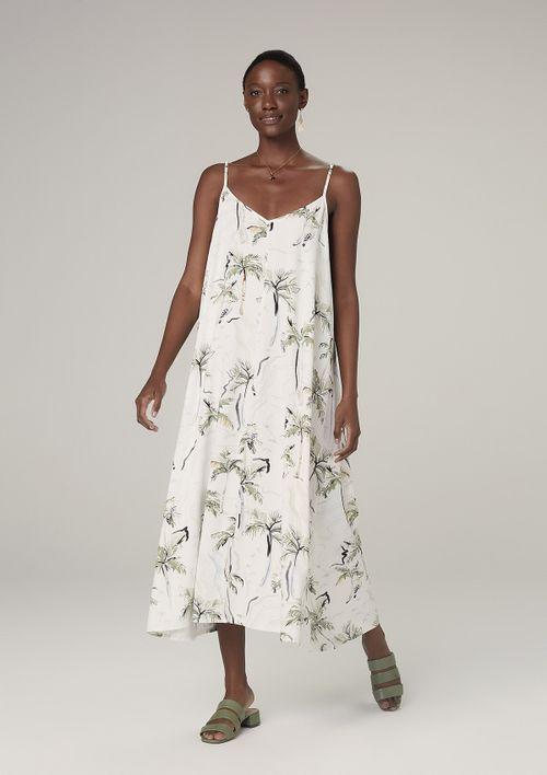 Vestido Midi De Alcinha - Off White