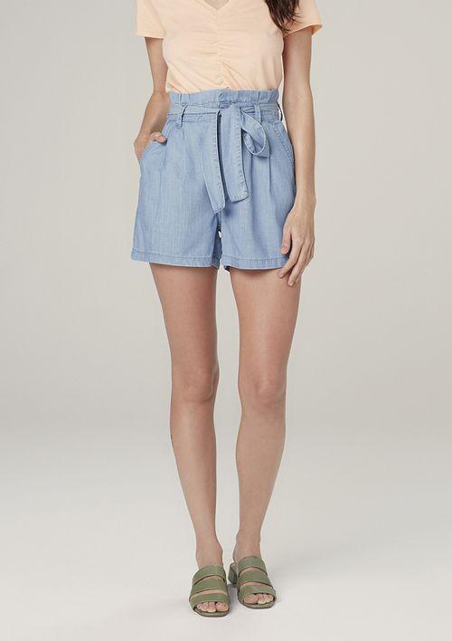 Shorts Jeans Light Denim Clochard - Azul