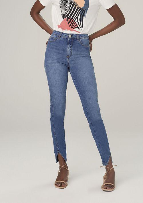 Calça Jeans Super Skinny Em Tecido T400 - Azul