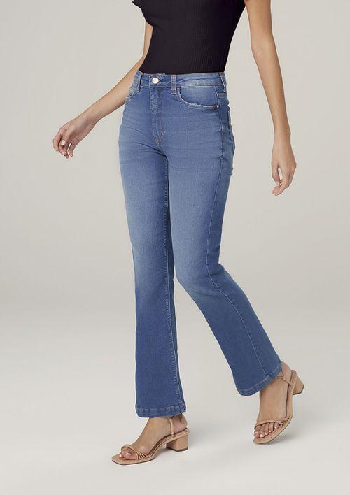 Calça Jeans Bootcut Petit - Azul