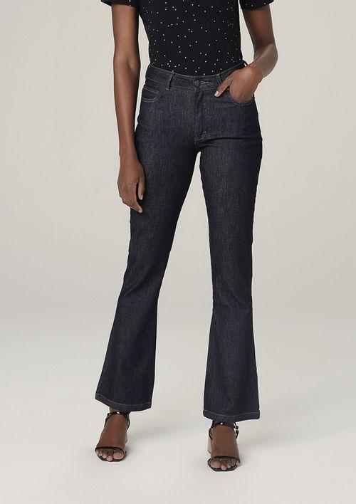 Calça Jeans Bootcut Petit Cintura Média - Preto
