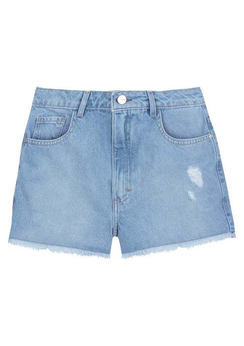 Shorts Em Jeans Eco Denim - Azul