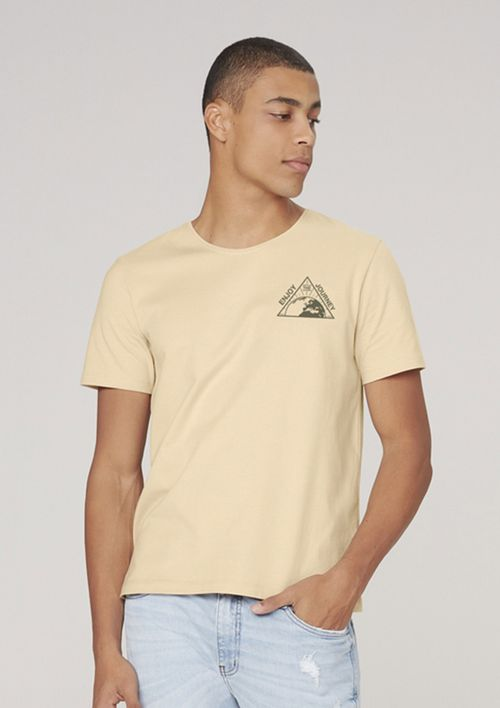 Camiseta Masculina Super Cotton Com Estampa - Amarelo
