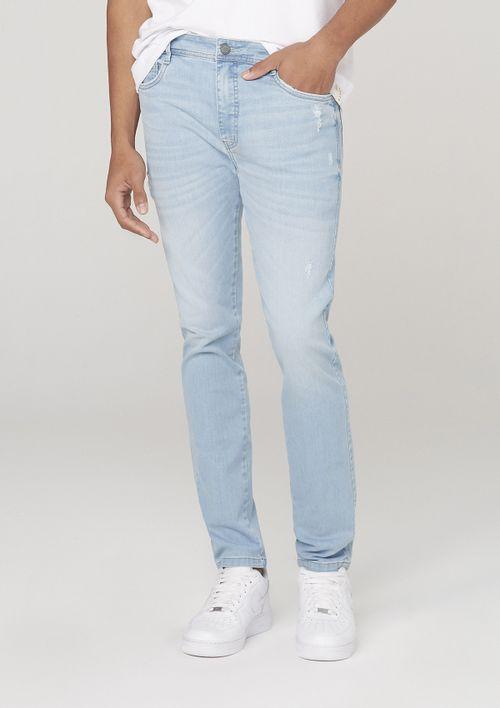 Calça Jeans Masculina Skinny Em Tecido T400 - Azul