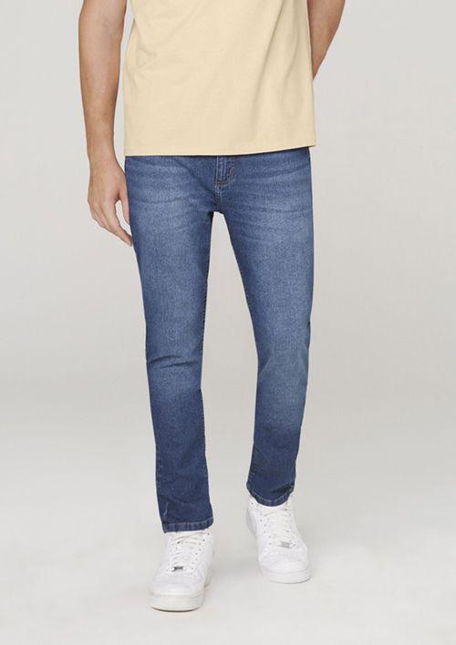 Calça Jeans Masculina Skinny Com Elastano - Azul