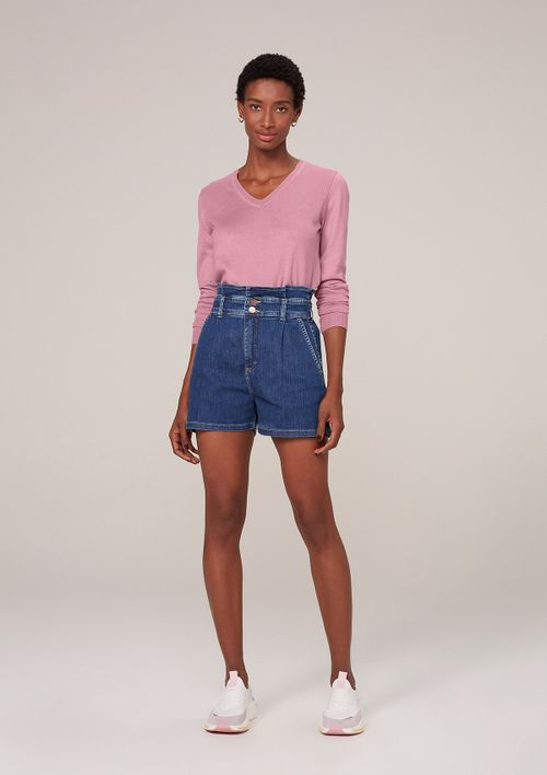 Shorts Jeans Clochard Com Elastano - Azul