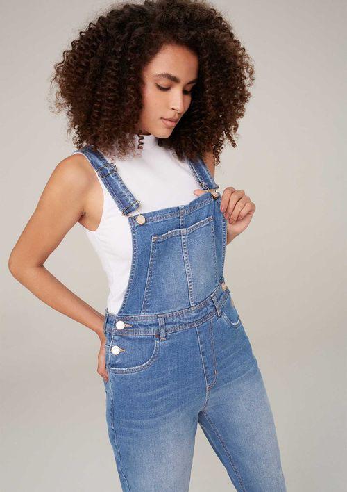 Macacão Jeans Em Eco Denim - Azul