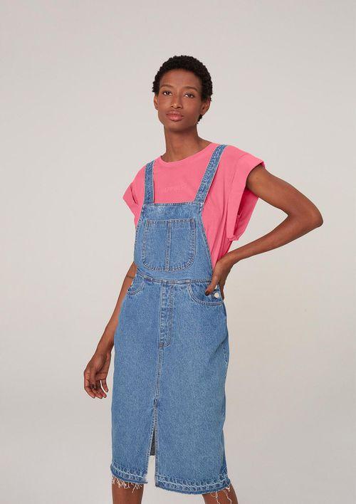 Vestido Jeans Midi - Azul
