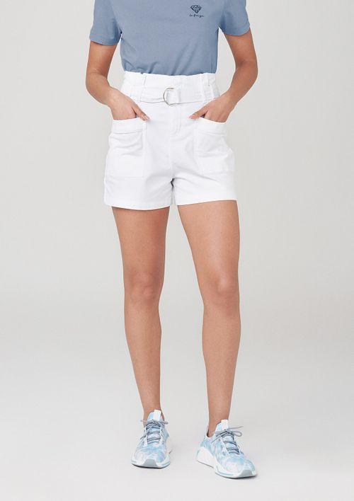 Shorts Clochard Com Elastano - Branco