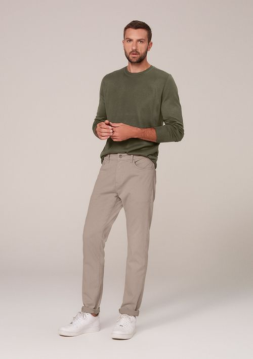 Calça Jeans Masculina Slim Com Elastano - Nude