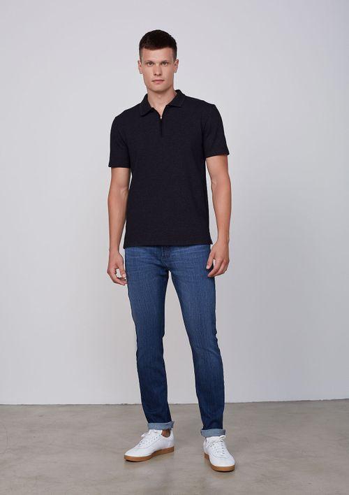 Camisa Polo Masculina Manga Curta - Preto