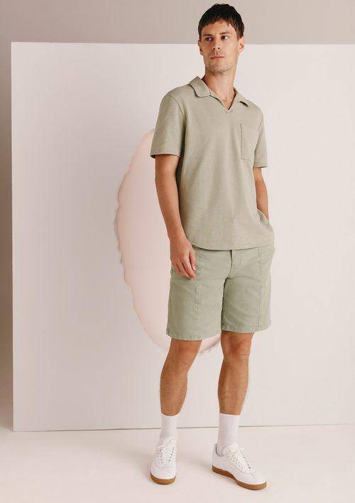Camisa Polo Masculina Em Malha De Algodão - Verde