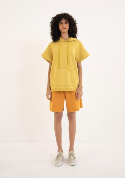 Blusão Moletom Canguru Unissex - Amarelo