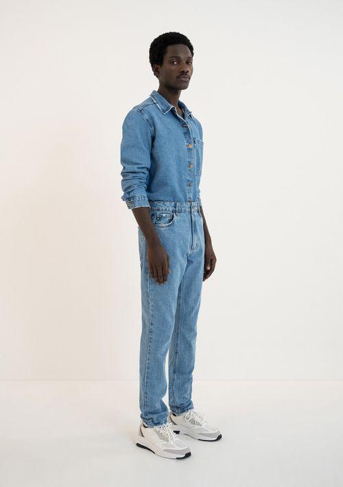 Calça Jeans Taper Unissex - Azul