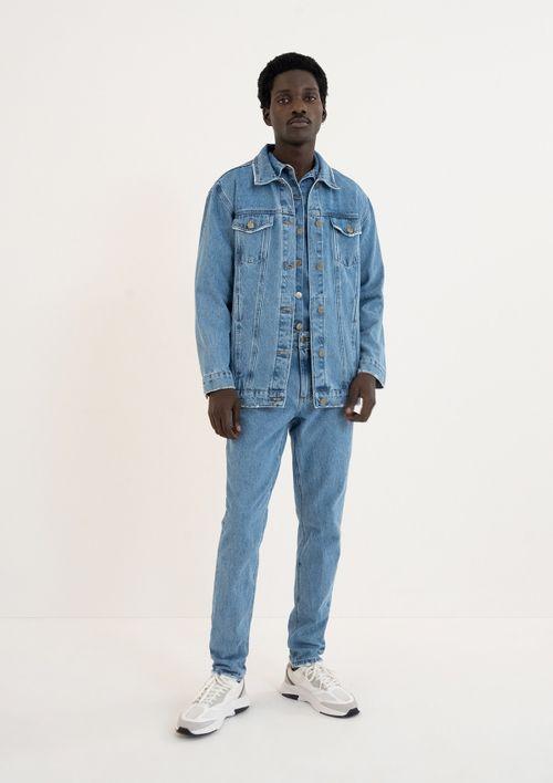 Jaqueta Jeans Oversized Unissex - Azul